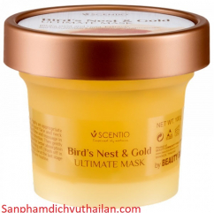 Scentio Bird's Nest And Gold Ultimate Mask - Mặt nạ Yến Vàng Thái Lan